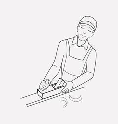 carpenter icon line element vector image