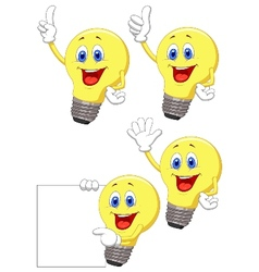 Cartoon light bulb vector image