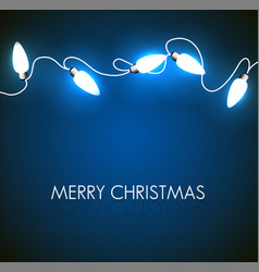 christmas background with white lights vector image