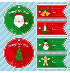 Christmas Gift Tag Design Set vector image