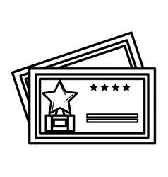 Cinema tickets isolated icon vector