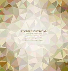 Color tiled triangle mosaic background design vector