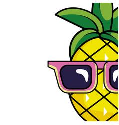 Delicious pineapple cartoon vector