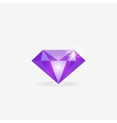 Diamond icon jewelry logo gem stone vector image