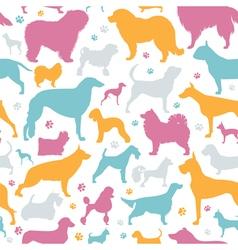 Dog seamless pattern Heatlh care vet nutrition vector