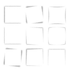 dotted square frames vector image