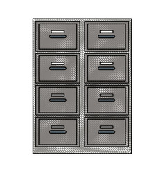 Drawing cabinet office document organization vector