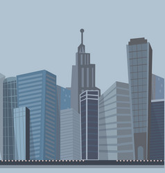Drawing image of the modern city landscape vector
