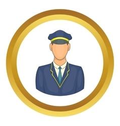 Driver of train icon vector