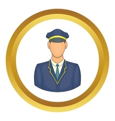 Driver of train icon vector image