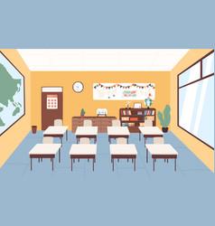 empty classroom at primary school graphic vector image