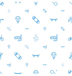 Extreme icons pattern seamless white background vector
