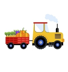Farm tractor on white background icon vector