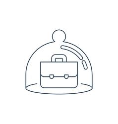 Financial security concept vector