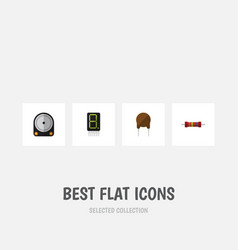 flat icon technology set of hdd display vector image