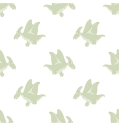 flying dinosaurs on a white background vector image