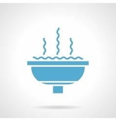 Fountain bowl glyph style icon vector
