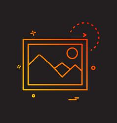 gallery icon design vector image