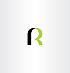 green black letter r icon sign logo logotype vector image