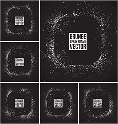 Grunge spray frames vector