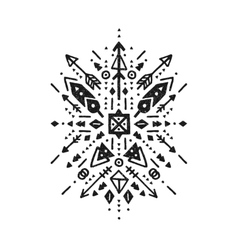 hand drawn tribal art vector image