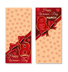 Happy international womens day festive background vector