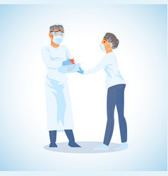 heart transplantation surgeon operation vector image