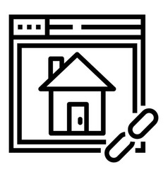 Home page hyperlink vector