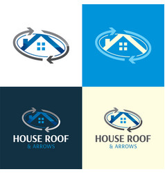 House roand moving company logo and icon 2 vector