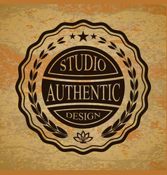 isolated badge for you design on a textured vector image