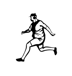 jogging vector image
