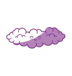 Kawaii clouds icon vector
