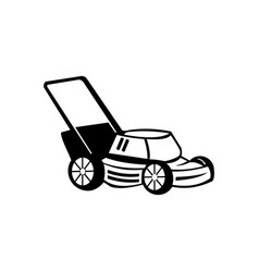 Lawn mower isolated simple element vector