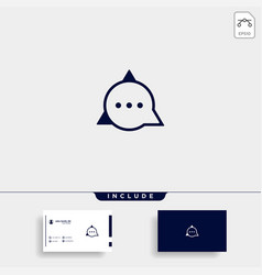 Letter a chat logo template design vector