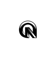letter n pin logo vector image