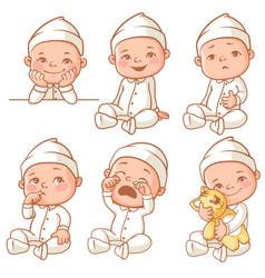 little baby wearing pajama vector image