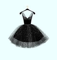 Little black dress Party dress vector
