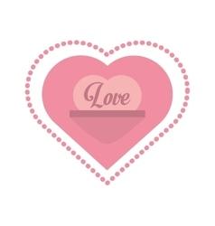 Love heart message frame dots vector