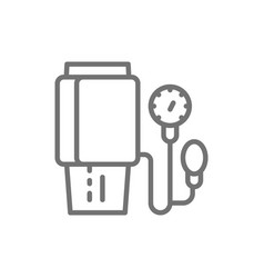 Measurement blood pressure line icon vector