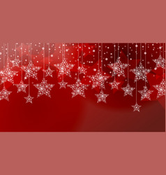 merry christmas stars vector image