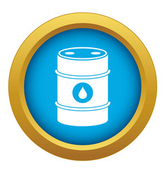 Metal oil barrel icon blue isolated vector
