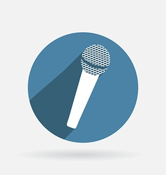 Microphone Circle blue icon with shadow vector