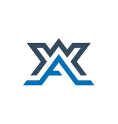 Modern monogram logo with letter ax vector
