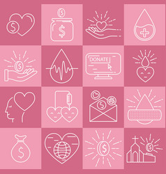 money and blood donation vector image