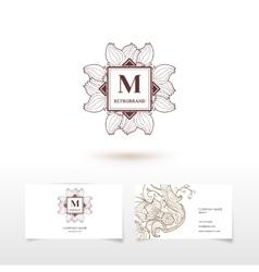 monogram identity concept vector image