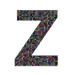 Multicolor letter Z vector