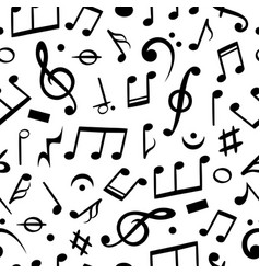 music notes seamless musical note pattern textile vector image