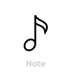 Music one note icon vector