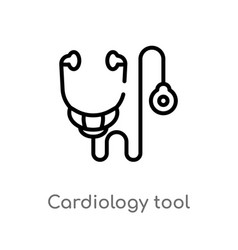 Outline cardiology tool icon isolated black vector