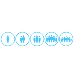 people icons work group team persons crowd symbol vector image